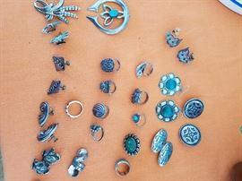 Lots of Sterling Rings