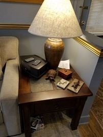 Two Side Tables with Slate