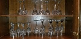 Waterford and Baccarat crystal