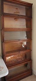 six-tier oak barrister's bookcase