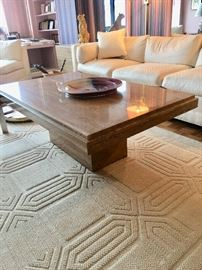Marble MCM coffee table (Milo Baughman?)