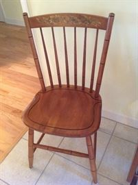 Set of (4) Antique painted chairs $ 110.00