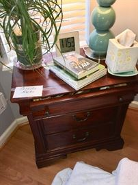 Items on night stand not for sale.