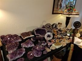 Large collection of crystals, geodes, rocks and more. Must see amazing pieces