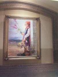 "Exquisite Pino Daeni Original painting, ""From the Garden"".  No limited edition prints created."
