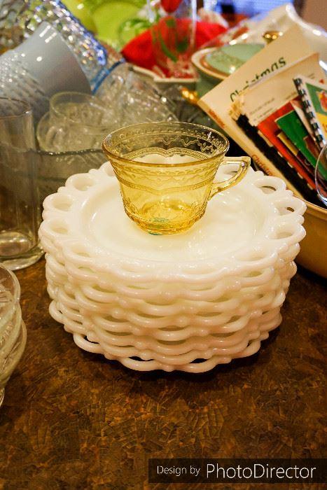 find milk glass at estate sales, Powerpoint templates
