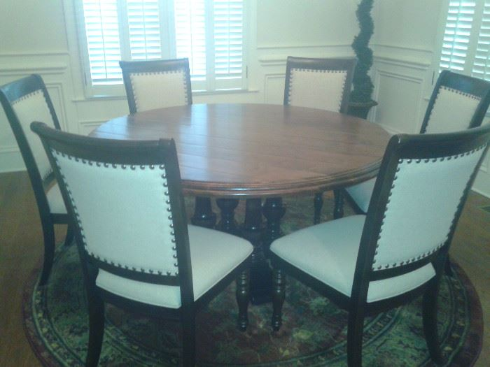 Logan Dining Table and Welcome Home Dining Chairs-Haverty's