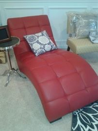 Red Chaise Lounge-Rooms to Go