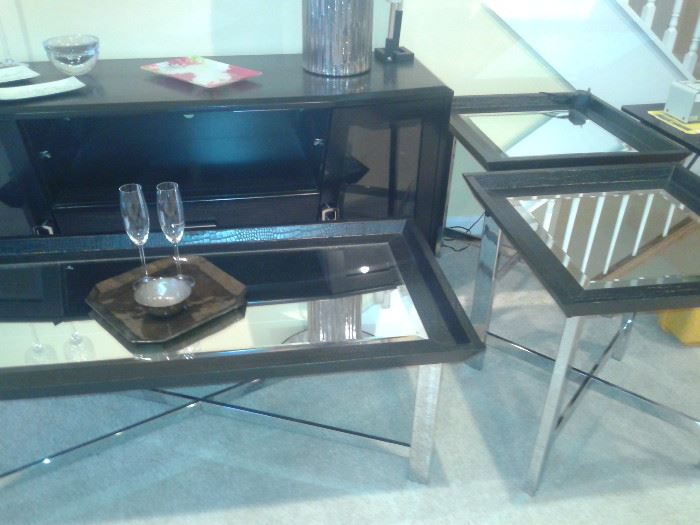 Mirror Tables and TV Cabinet-Rooms To Go