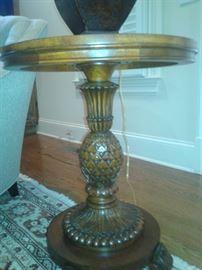 Leather Table Lamp-Ethen Allen