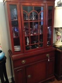 China cabinet- great display and storage areas
