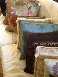 Assorted decorative pillows