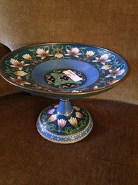 Hand painted compote