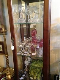 Display cabinet with lovely stemware