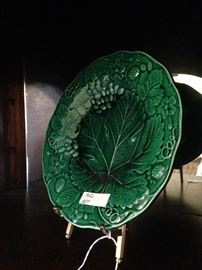 Green Majolica plate