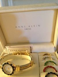Anne Klein watch with interchangeable faces
