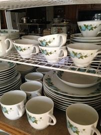 """Miscellaneous pieces of Noritake """"Blue Orchard"""" china"""
