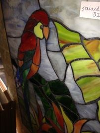 Parrot stain glass