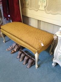 French Provincial bed bench