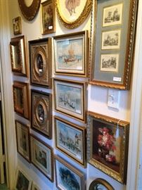 Huge array of framed art