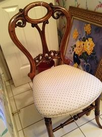 Chair with ornate back