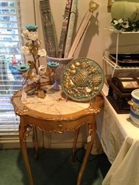 Marble top insert - gold table