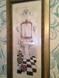 Darling picture for the powder room