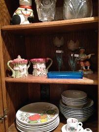 A variety of serving dishes