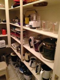 Small appliances, coffee pots, ice buckets, etc.