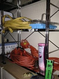 Cords and other garage items