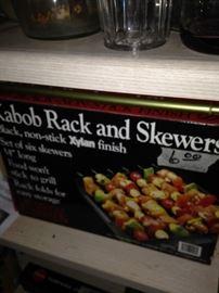 Kabob Rack and Skewers