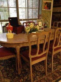 French Country table and 6 chairs