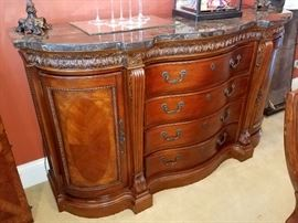 Absolutely fantastic, gorgeous buffet with marble top
