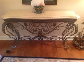 Stone Top Decorative Foyer Table $ 320.00
