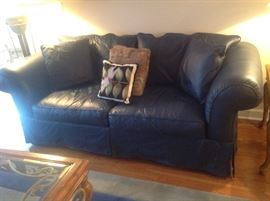 Leather Sofa (dark blue) $ 360.00