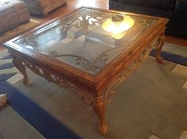 Metal / Glass Top Coffee Table (2 matching end tables also available) $ 150.00