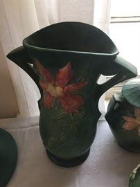 Huge Roseville Clematis Vase
