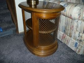 1 OF 2 WOOD SIDE TABLE