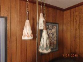 Mid Century Modern tension pole lamp.