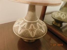 Pair of Mid Century Modern lamps.