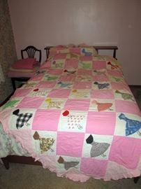 Bedroom Left:  Quilt