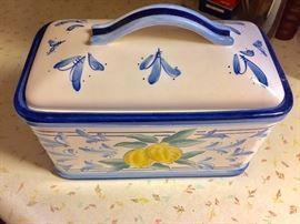 Italian ceramic bread box