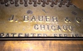 Manufacturer plate inside piano