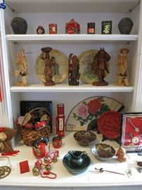 Wooden Statues, Drum Sets, Mokugyo Drum Set, Cinnabar Plate