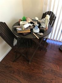 Adirondack Style Table and 2 Chairs