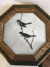 Art Glass Bird Painting