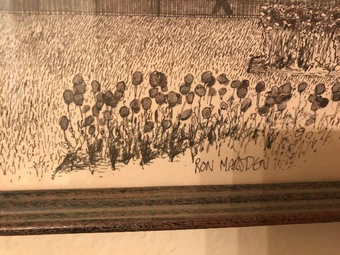 Set of Ron Marsden Drawings