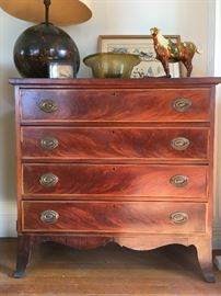 Hepplewhite Four Drawer Dresser