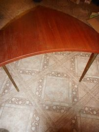Mid Century Danish Teak John Stuart Boomerang Shape Occasional Table (2) Denmark