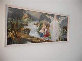 Giovanni Lithograph Print Guardian Angels